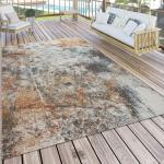 Flachgewebe-Teppich Dees in Braun