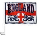 Flaggenfritze Autofahne Autoflagge England 2 Löwen - 30 x 40 cm