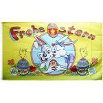 Flaggenfritze Fahne/Flagge Frohe Ostern Hasen und Eier + gratis Sticker