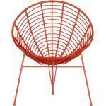 Flechtsessel in Rot Retro Design