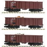 FLEISCHMANN 828345 N 3-tlg. Set Güterwagen mit Schrottbeladung, DB, Ep. IV