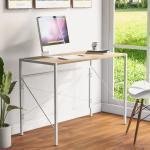 Flieks Schreibtisch (1-St), Faltbarer Computertisch Klapptisch 100 50 75cm, beige, natur