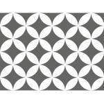 Fliesenaufkleber Muster grau weiß 15x15 cm 12-tlg.
