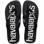 Flip Flops Havaianas Top Logomania Black Kinder-Schuhgröße 27 - 28