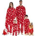 Rote Herrennachtwäsche & Herrenhomewear mit Weihnachts-Motiv  zu Weihnachten für den Winter