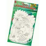 folia 23269 - Kindermasken Exotische Tiere, aus Pappe, Motive sortiert, zum selbst Bemalen und Gestalten, 6 Stück, weiß, für Kinder, Jungen und Mädchen, ideal für Kindergeburtstage und Partys