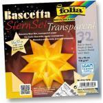 FOLIA 814/1515 15x15cm Bastelset Bascetta Stern gelb