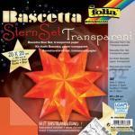Folia Bascetta Stern - orange, transparent, Ø 30 cm