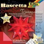 Folia Bascetta Stern - rot, transparent, Ø 30 cm