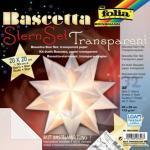 Folia Bascetta Stern - weiß, transparent, Ø 30 cm
