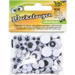 folia Wackelaugen selbstklebend sortiert 100 Pack