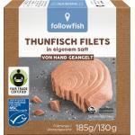 followfish Thunfisch Filets, in eigenem Saft, MSC Zertifizierung, Fair Trade (185 g)