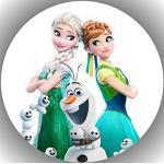 Fondant Tortenaufleger Tortenbild Geburtstag Frozen Die Eiskönigin T71