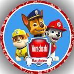 Fondant Tortenaufleger Tortenbild Geburtstag personalisiert kompatibel mit Paw Patrol K 5 ( Name per Nachricht )