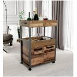 FORTE Barschrank, Höhe ca. 88 cm braun Bartische, Theken Tresen Barmöbel Küchenmöbel Barschrank
