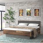 FORTE Doppelbett Clif 180 x 200 cm Braun