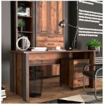 FORTE Schreibtisch Clif braun Schreibtische Bürotische und Büromöbel
