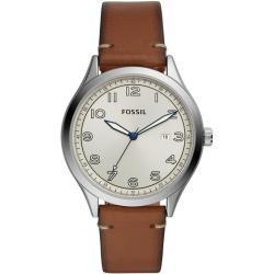 Fossil Herren Uhr BQ2487 Quarz Lederband
