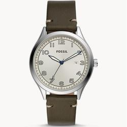 Fossil Herren Uhr BQ2488 Wylie Leder grau