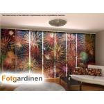 Fotogardinen Feuerwerk, Schiebevorhang Schiebegardinen 3D Fotodruck,auf Maß