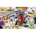 Fototapete 1395 VEXXL Vlies Graffiti rot 312 x 219 cm