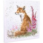 Foxgloves Wrendale Canvas von Hannah Dale