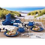 Friesland Porzellan Kaffee-Set 18Tlg. Ammerland Blue - Geschirr-Set