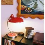 FRITZ HANSEN Kaiser idell 6631 Luxus Tischleuchte Ø 28,5 H: 42,5 cm, rubinrot hochglanz/chrom 62701601, EEK: A++