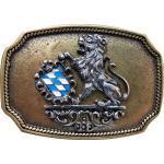 FRONHOFER Gürtelschnalle »18208« Trachten Gürtelschnalle Bayerisches Wappen, Löwe, Schnalle 4 cm, goldfarben