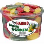 Fruchtgummi Saure Gurken 1350g Haribo PP-Dose 150 St (5,70 € pro 1 kg)