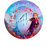 Für den Geburtstag ein Tortenbild, Zuckerbild mit dem Motiv: Frozen Die Eiskönigin, Essbares Foto für Torten, Tortenbild, Tortenaufleger Ø 20cm - Super Qualität, 0251w1 (0251w4)