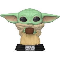 Funko 49933 POP Star Wars: Mandalorian-The Child w/Cup Sammelbares Spielzeug, Mehrfarben