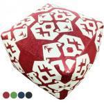 Fußhocker Sitzhocker Sitzwürfel 55x37x55 cm Kelim Pouf Bodenkissen Mexiko rot grün blau schwarz : rot - vintage red 4251633125301 (CAS005527-000000-0000VR)