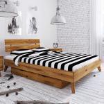 Futonbett aus Wildeiche Massivholz Bettkasten
