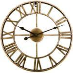 FutureShapers Vintage Wanduhr ohne Tickgeräusche,Lautlos Uhr, Ø 40cm, 16 Zoll, Industrial Design