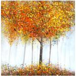 G&C Ölgemälde Skyline orange Gemälde Bilder Bilderrahmen Wohnaccessoires