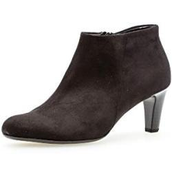 Schwarze Runde Gabor Blockabsatz Ankle Boots & Klassische Stiefeletten mit Reißverschluss in Breitweite für Damen mit Absatzhöhe 5cm bis 7cm