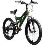 Galano FS180 20 Zoll Mountainbike Full Suspension Kinderfahrrad Fully MTB Kinder ab 6 Jahre Fahrrad... 31 cm, khaki