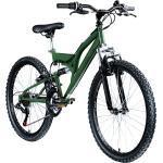 Galano FS180 24 Zoll Mountainbike Full Suspension Jugendfahrrad Fully MTB Jugendliche ab 8 Jahre Fahrrad... 37 cm, khaki
