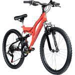 Galano FS180 24 Zoll Mountainbike Full Suspension Jugendfahrrad Fully MTB Jugendliche ab 8 Jahre Fahrrad... rot, 37 cm