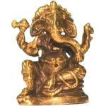 Ganesha sitzend Messing