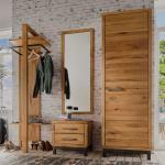 Garderobenset im rustikalen Landhausstil Wildeiche Massivholz (4-teilig)