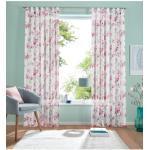 Gardine, Orchidee, my home, Schlaufen 1 Stück rosa Damen Wohnzimmergardinen Gardinen nach Räumen Vorhänge Gardine