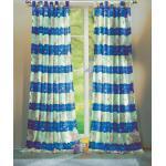 Gardinenbox Gardine, Schlaufe (2 Stück), Kindergardinen Set mit süßen Tieren 60010, blau, Blau