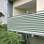 Gardol Balkonsichtschutz (Grün/Weiß, 5 x 0,9 m)
