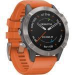 "Garmin GPS-Multifunktionsuhr ""Fenix 6 Sapphire"" Grau/Silber Titan Lünette, grau, Einheitsgröße"