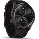 Garmin vívomove Style – stilvolle Hybrid-Smartwatch mit 2 brillanten AMOLED-Farbdisplays und Nylon Armband, Sport-Apps und Fitness-/Gesundheitsdaten, wasserdicht, 5 Tage Akkulaufzeit, Fitness Tracker