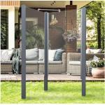 Garten-Dusche Breuer Exo 2-seitig 95 x 200 cm Klarglas Profil grau