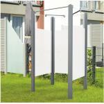 Garten-Dusche Breuer Exo 3-seitig 95 x 200 cm Intima Profil grau