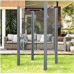 Garten-Dusche Breuer Exo 3-seitig 95 x 200 cm Klarglas Profil grau